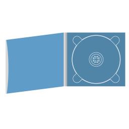 Digipack CD 4 полосы 1 трей с рукавом для буклета