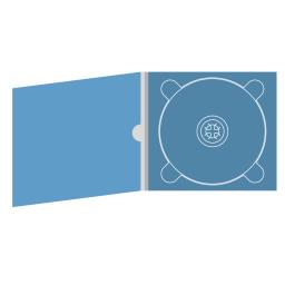 Digipack CD 4 полосы 1 трей с рукавом для буклета и вырезом под палец (внутренний)