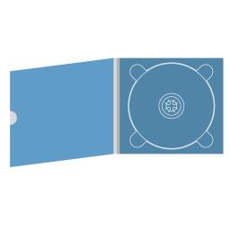 Digipack CD 4 полосы 1 трей с рукавом для буклета и вырезом под палец (внешний)