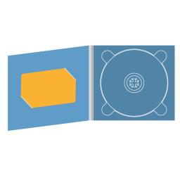 Digipack CD 4 полосы 1 трей с вырезом под визитку