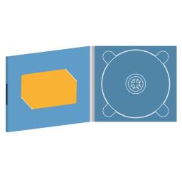 Digipack CD 4 полосы 1 трей с вырезом под визитку на магните