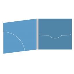 DigiFile CD 4 полосы 1 прорезь с карманом для буклета (скругленный)