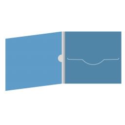 DigiFile CD 4 полосы 1 прорезь с рукавом для буклета и вырезом под палец (внутренний)
