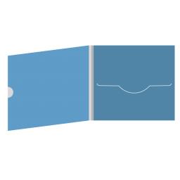 DigiFile CD 4 полосы 1 прорезь с рукавом для буклета и вырезом под палец (внешний)