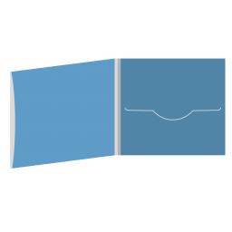 DigiFile CD 4 полосы 1 прорезь с рукавом для буклета