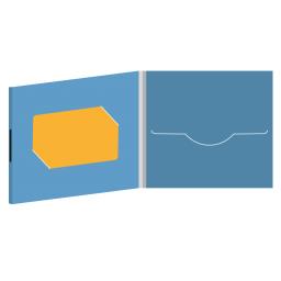 DigiFile CD 4 полосы 1 прорезь с вырезом под визитку на магните