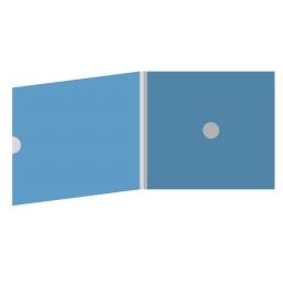 DigiFix CD 4 полосы 1 спайдер с рукавом для буклета и вырезом под палец (внешний)