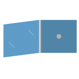 DigiFix CD 4 полосы 1 спайдер с вырезом под визитку