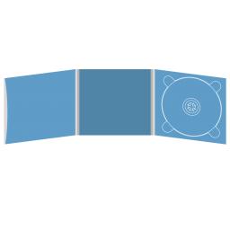 Digipack CD 6 полос 1 трей (справа) с рукавом для буклета (слева)