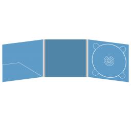 Digipack CD 6 полос 1 трей (справа) с карманом для буклета (слева)
