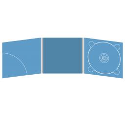 Digipack CD 6 полос 1 трей (справа) с карманом для буклета (скругленный) (слева)
