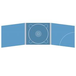 Digipack CD 6 полос 1 трей (в центре) с карманом для буклета (скругленный, справа)