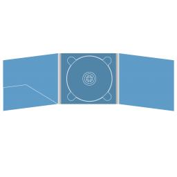 Digipack CD 6 полос 1 трей (в центре) с карманом для буклета (слева)