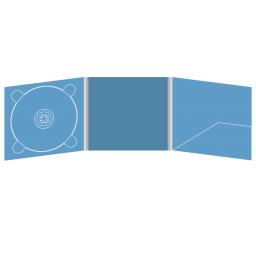 Digipack CD 6 полос 1 трей (слева) с карманом для буклета (справа)