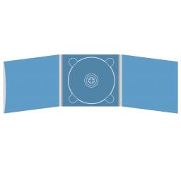 Digipack CD 6 полос 1 трей (в центре) с рукавом для буклета (слева)