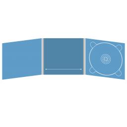 Digipack CD 6 полос 1 трей (справа) с прорезью для буклета (в центре)
