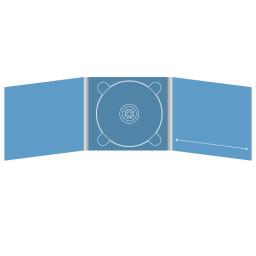 Digipack CD 6 полос 1 трей (в центре) с прорезью для буклета (справа)
