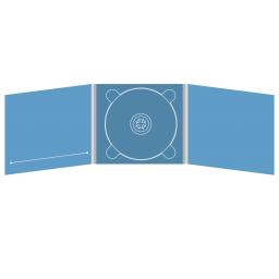 Digipack CD 6 полос 1 трей (в центре) с прорезью для буклета (слева)