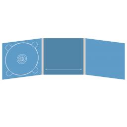 Digipack CD 6 полос 1 трей (слева) с прорезью для буклета (в центре)