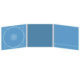 Digipack CD 6 полос 1 трей (слева) с прорезью для буклета (справа)