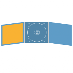 Digipack CD 6 полос 1 трей (в центре) с буклетом (вклеенным) (слева)