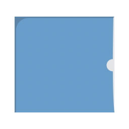 Картонный Конверт (карман) с вырезом под палец