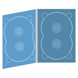 Digipack DVD 4 полосы 2 двойных трея