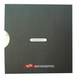Картонный конверт с вырезом под палец. Аэроэкспресс