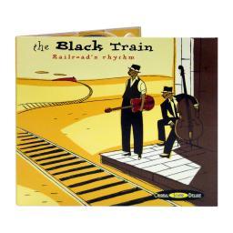 Диджипак CD 4 полосы 1 трей. Black train