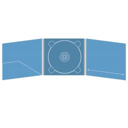 Digipack CD 6 полос 1 трей (в центре) с карманом и вырезом под буклет