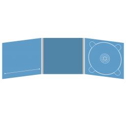 Digipack CD 6 полос 1 трей (справа) с прорезью для буклета (слева)