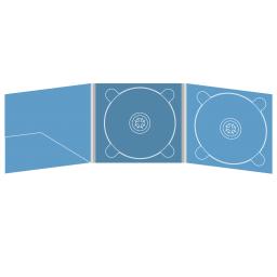 Digipack CD 6 полос 2 трея с карманом для буклета (слева)