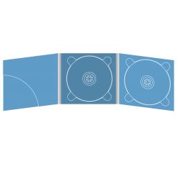 Digipack CD 6 полос 2 трея с карманом для буклета (скругленный) (слева)