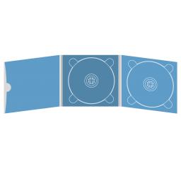Digipack CD 6 полос 2 трея с рукавом для буклета и вырезом под палец (внешний) (слева)