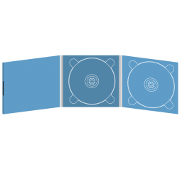 Digipack CD 6 полос 2 трея с буклетом (вклеенным) (слева) на магните