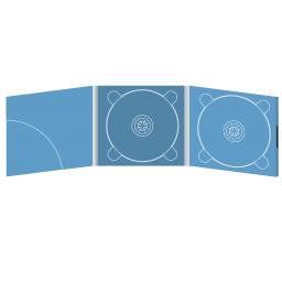 Digipack CD 6 полос 2 трея с карманом для буклета (скругленный) (слева) на магните