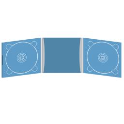 Digipack CD 6 полос 2 трея с рукавом для буклета и вырезом под палец (внутренний) (слева) на магните