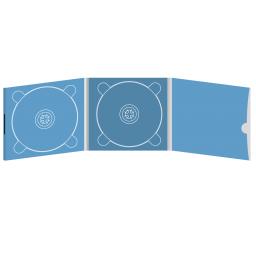 Digipack CD 6 полос 2 трея с рукавом для буклета и вырезом под палец (внешний) (справа) на магните