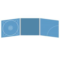 Digipack CD 6 полос 1 трей с вырезом под буклет (слева) и карманом для буклета (справа)