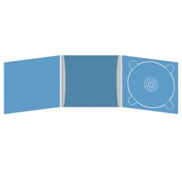 Digipack CD 6 полос 1 трей (справа) с рукавом для буклета (в центре)