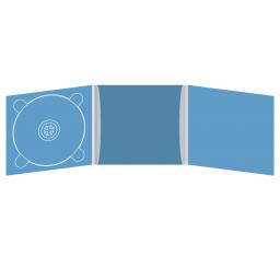 Digipack CD 6 полос 1 трей (слева) с рукавом для буклета (в центре)