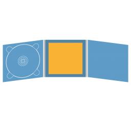 Digipack CD 6 полос 1 трей (слева) с буклетом (вклеенным) (в центре)
