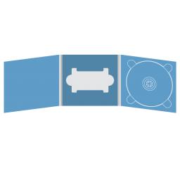 Digipack CD 6 полос 1 трей (справа) с вырезом под флешку (в центре)