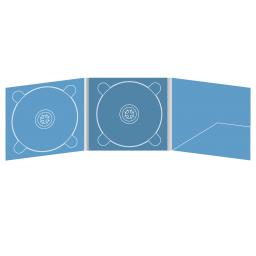Digipack CD 6 полос 2 трея с рукавом для буклета (справа)