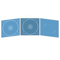 Digipack CD 6 полос 2 трея с вырезом по визитку (справа)