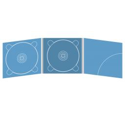 Digipack CD 6 полос 2 трея с карманом для буклета (скругленный) (справа)