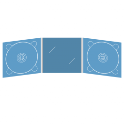 Digipack CD 6 полос 2 трея с вырезом под визитку (в центре)