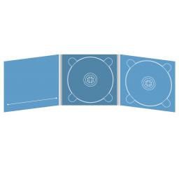 Digipack CD 6 полос 2 трея с карманом для буклета (справа)