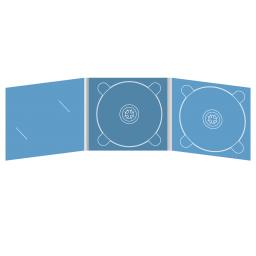 Digipack CD 6 полос 2 трея с вырезом под визитку (слева)