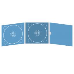 Digipack CD 6 полос 2 трея с рукавом для буклета и вырезом под палец (внутренний) (справа)